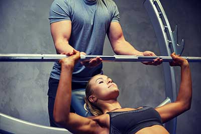 Inclined Bench Press Girl