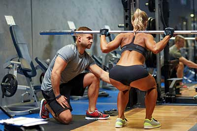 Squatting Woman with Good Core