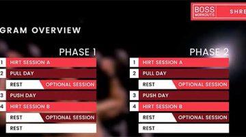 Boss Shred – Boss Workouts – Top Cutting Bodybuilding 12 Week Program