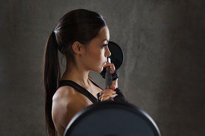 Woman Starting Shoulder Press