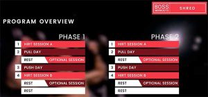 Boss Workout Boss Shred Phases