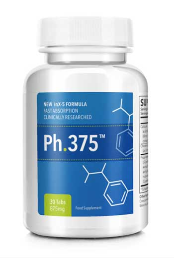 Ph.375 Weight Loss Pill Bottle